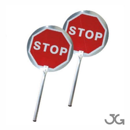 PALETA DE SEÑALIZACIÓN STOP-STOP ALUMINIO